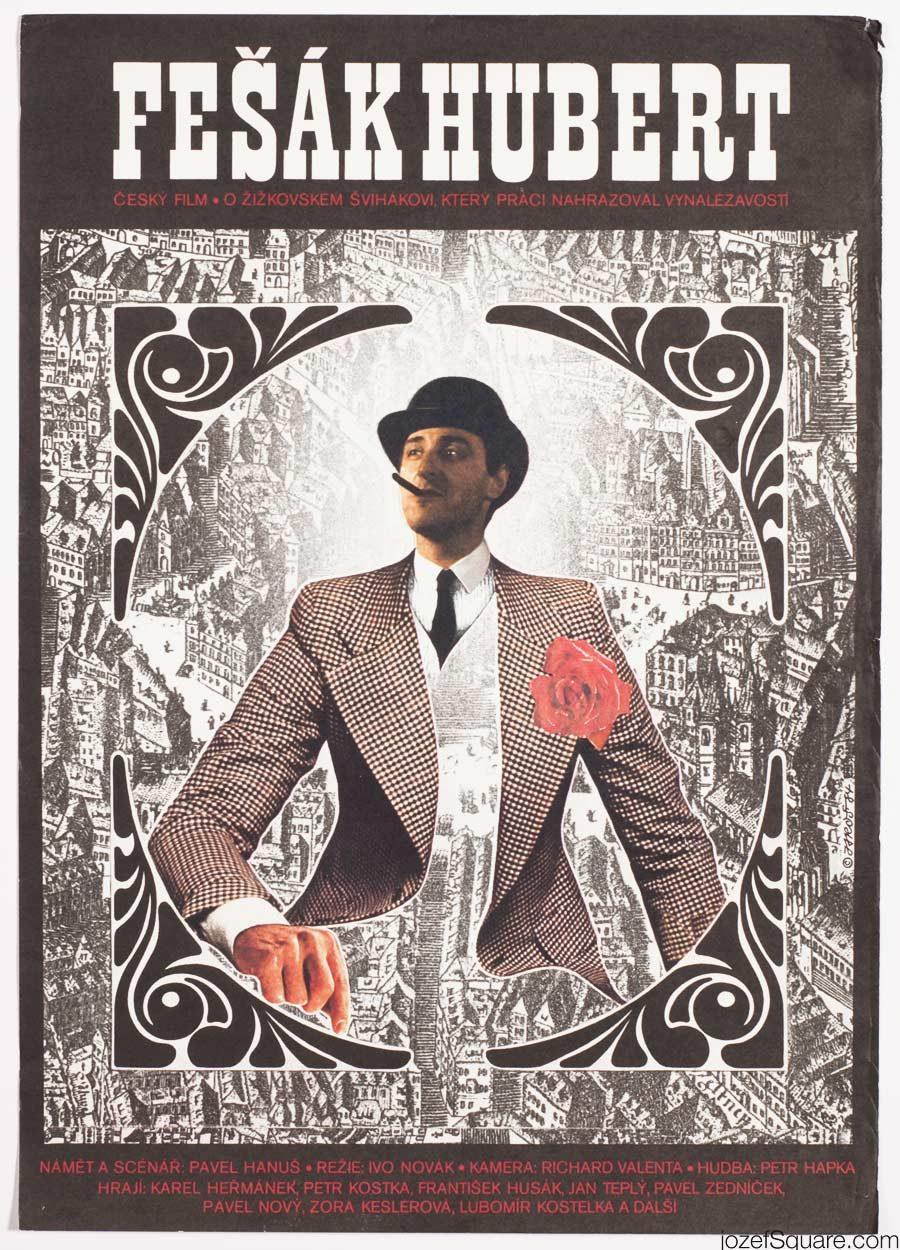 Hubert the Smart Boy Movie Poster, 80s Collage Artwork