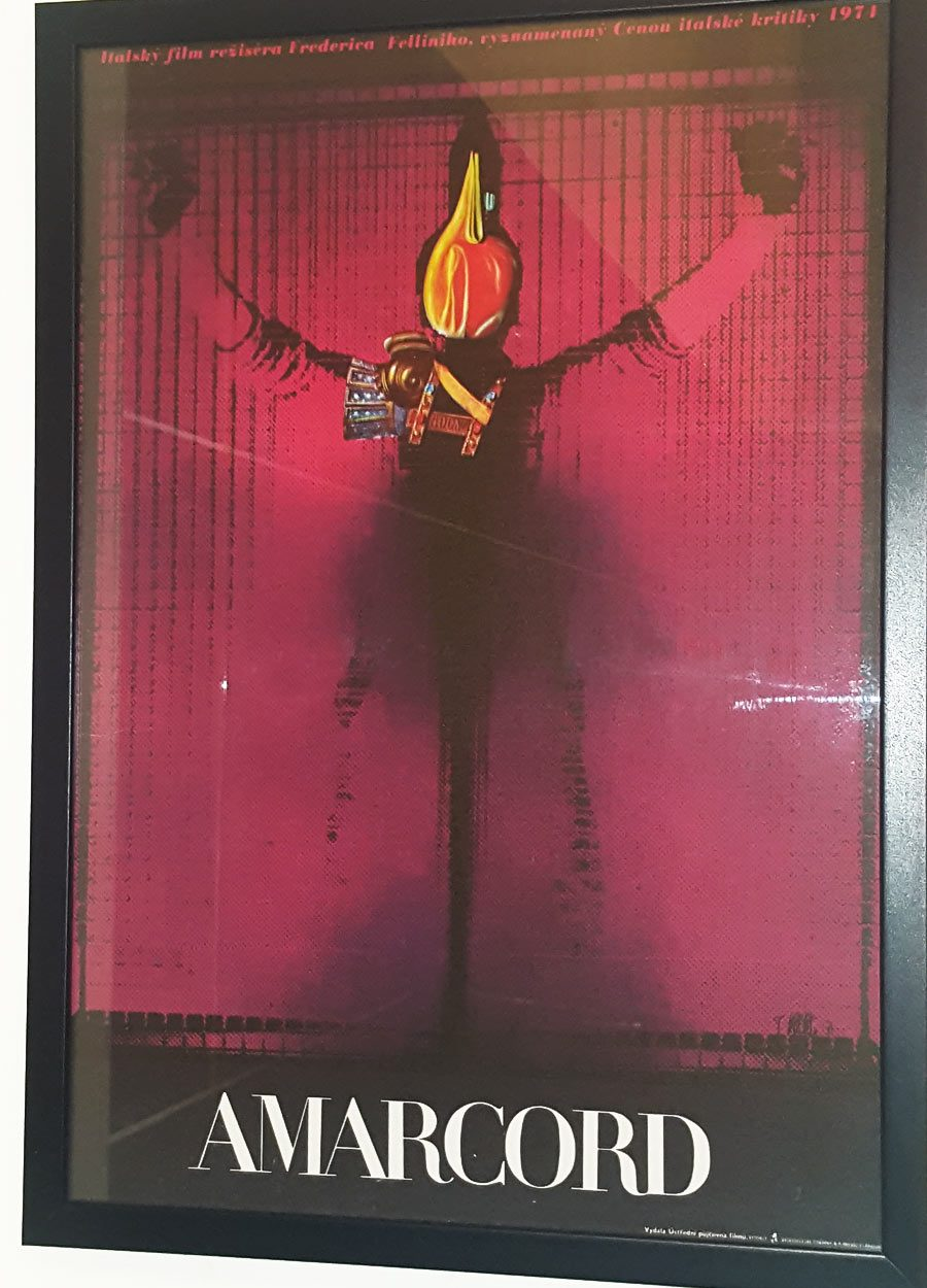 Amarcord Surreal Movie Poster, Josef Vyletal
