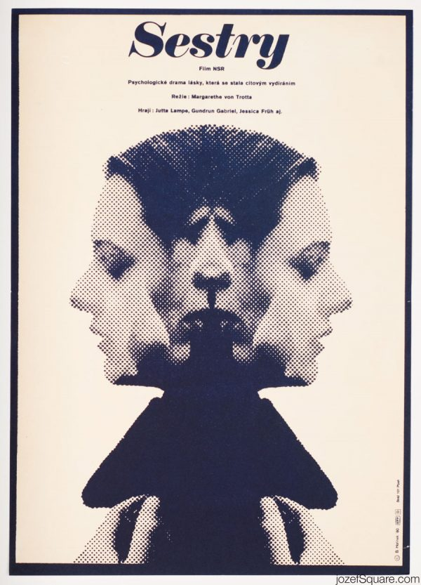 Sisters, or The Balance of Happiness Movie Poster, 80s Collage Poster Art
