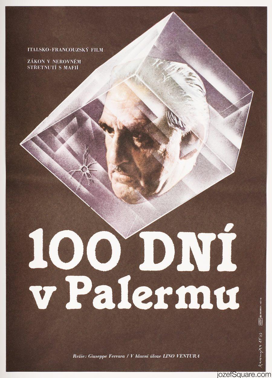 Cinema Poster, 100 Days in Palermo, Lino Ventura