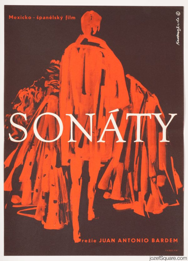 60s Cinema Poster, Sonatas, Minimalist Artwork