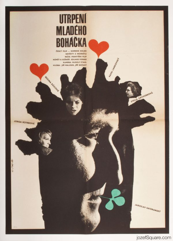 Young Bohaceks Sufferings Movie Poster, 60s Poster Art