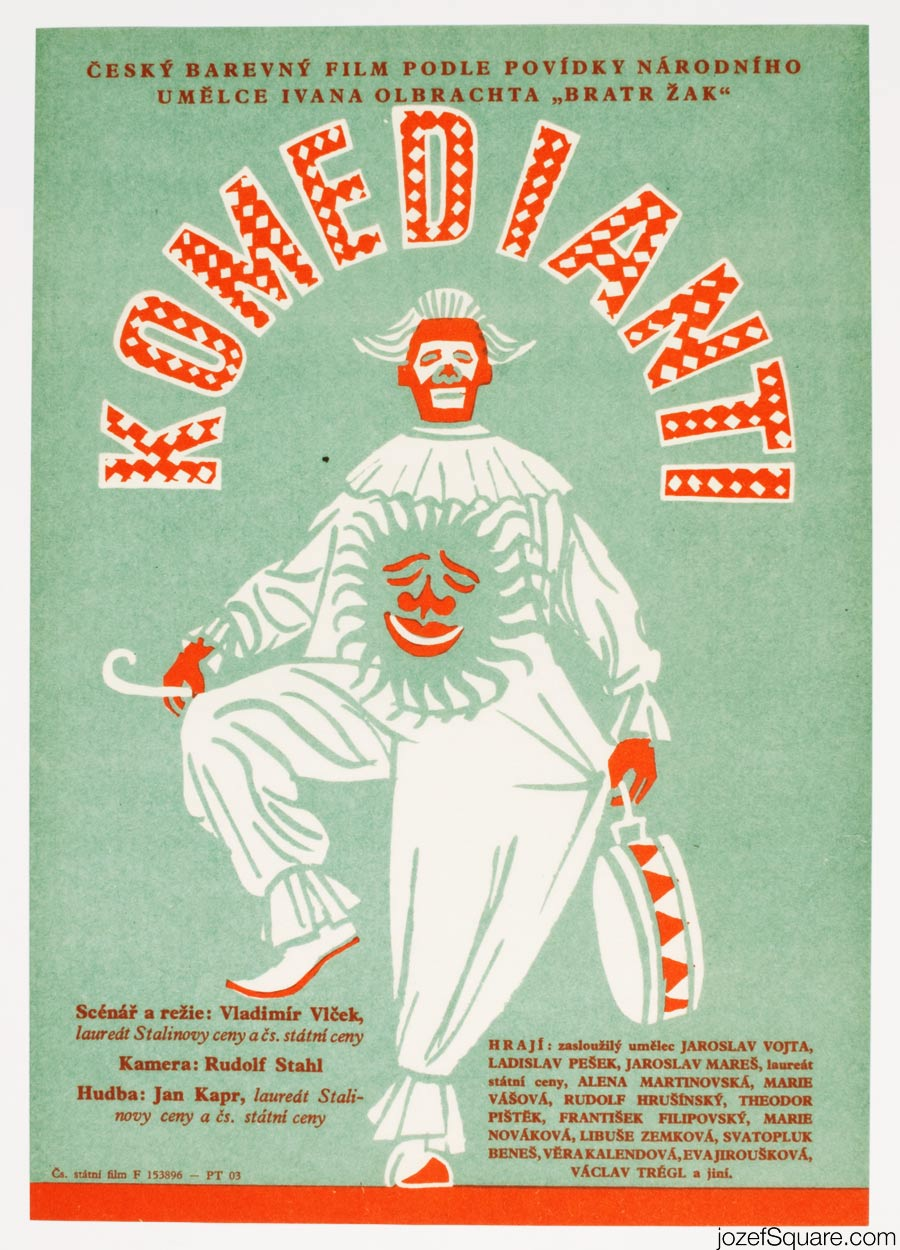 Comedians Movie Poster, 50s Poster Art