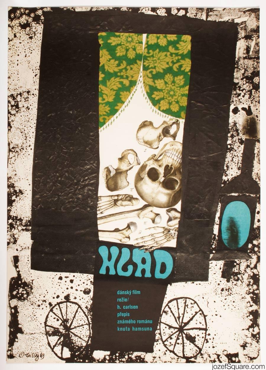 Karel Teissig Movie Poster, Hunger, 60s Cinema Art