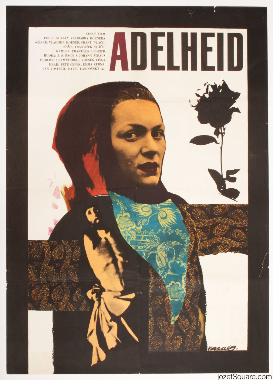 Adelheid Movie Poster, Karel Vaca Collage Artwork