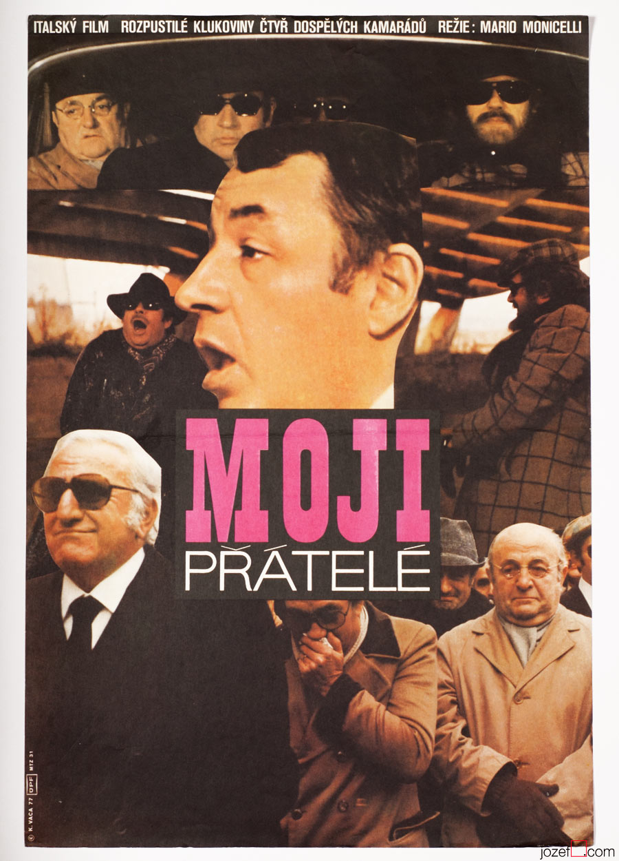My Friends Movie Poster, Mario Monicelli