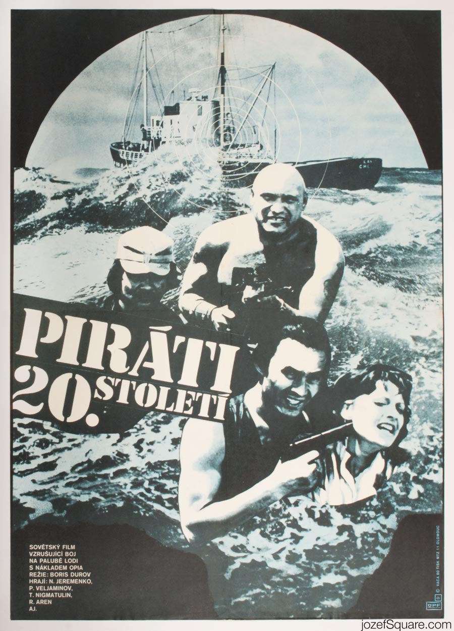 Pirates of the 20th Century Movie Poster, Karel Vaca Artwork