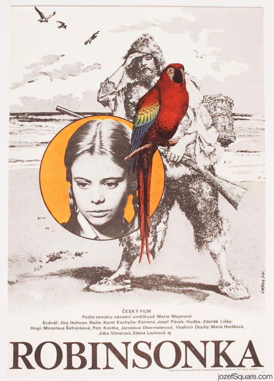 Robinson Girl Movie Poster, Karel Vaca