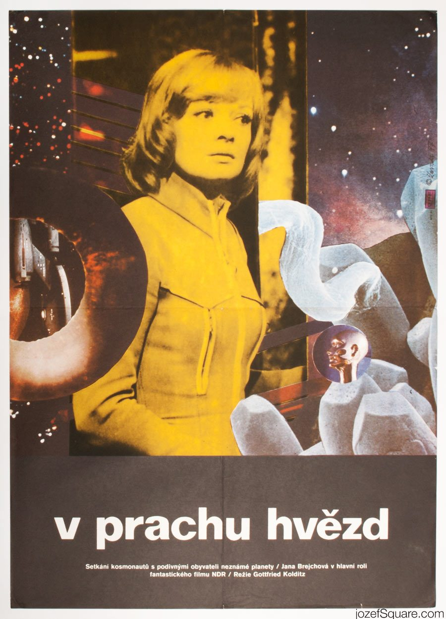 Sci-fi Movie Poster, In the Dust of the Stars, 70s Artwork