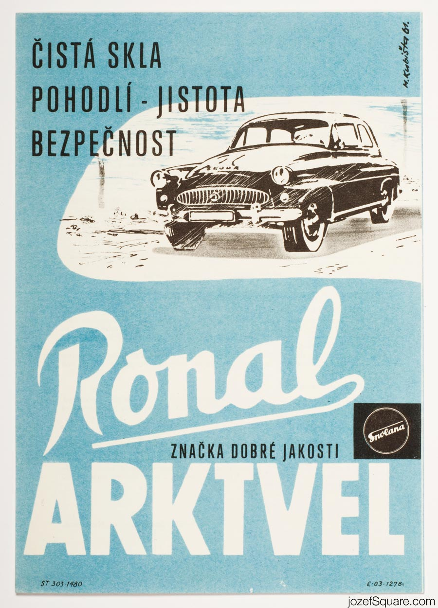 Advertising Poster, Spolana, 60s Artwork