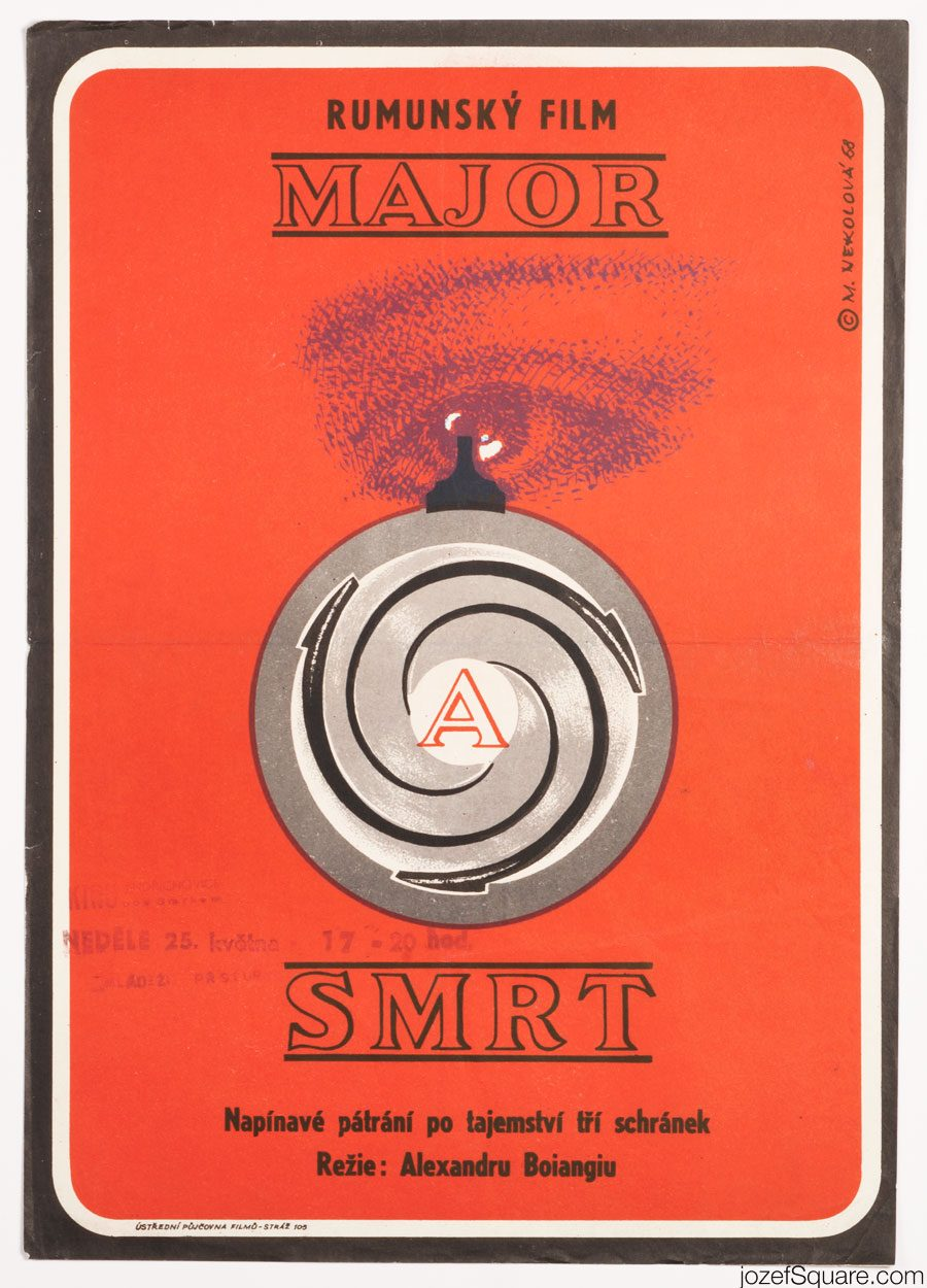 Movie Poster, The Major and Death, 60s Minimalist Poster Art