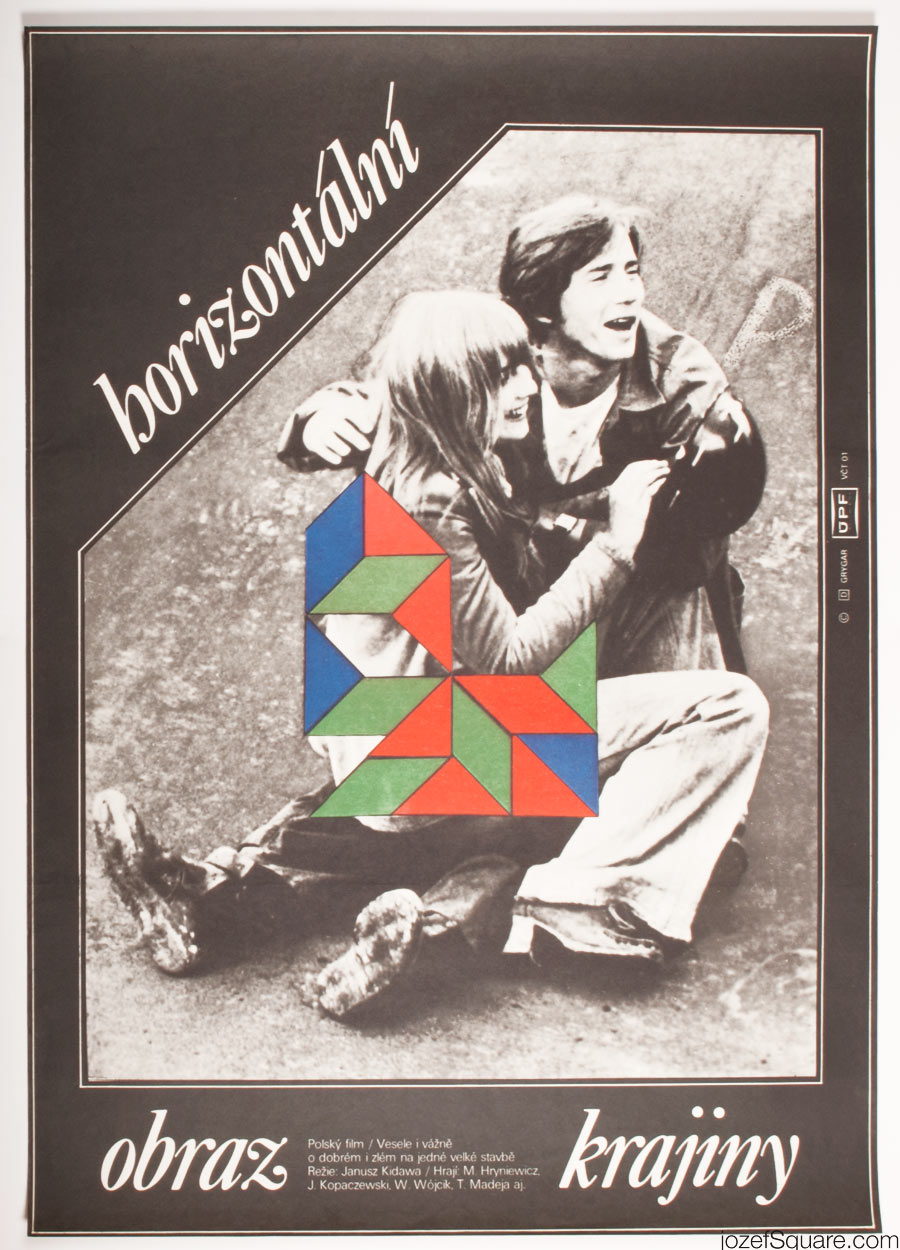 Horizontal Landscape Movie Poster, Abstract Artwork, Milan Grygar