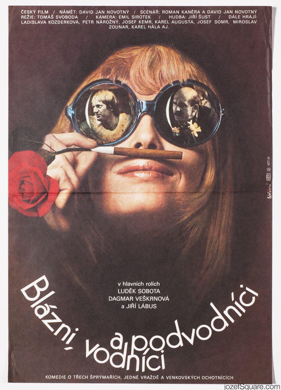 Fools, Water Sprites and Crooks Movie Poster, Olga Polackova-Vyletalova