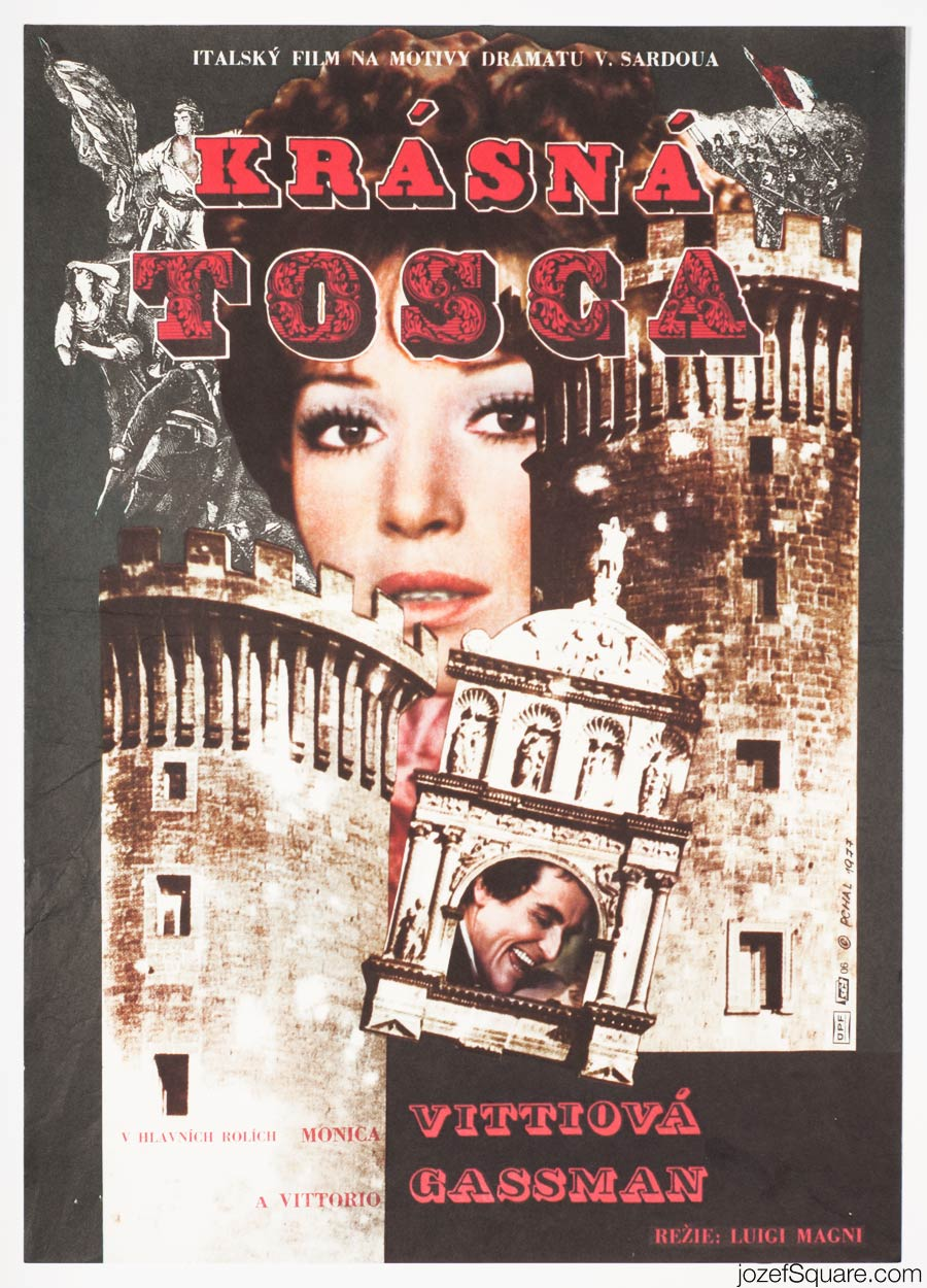 Tosca Movie Poster, Monica Vitti, Vittorio Gassman