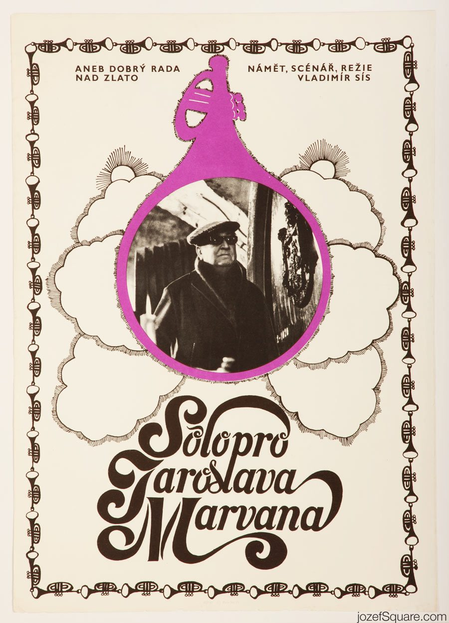 80s Movie Poster, Solo For Jaroslav Marvan, Petr Sis