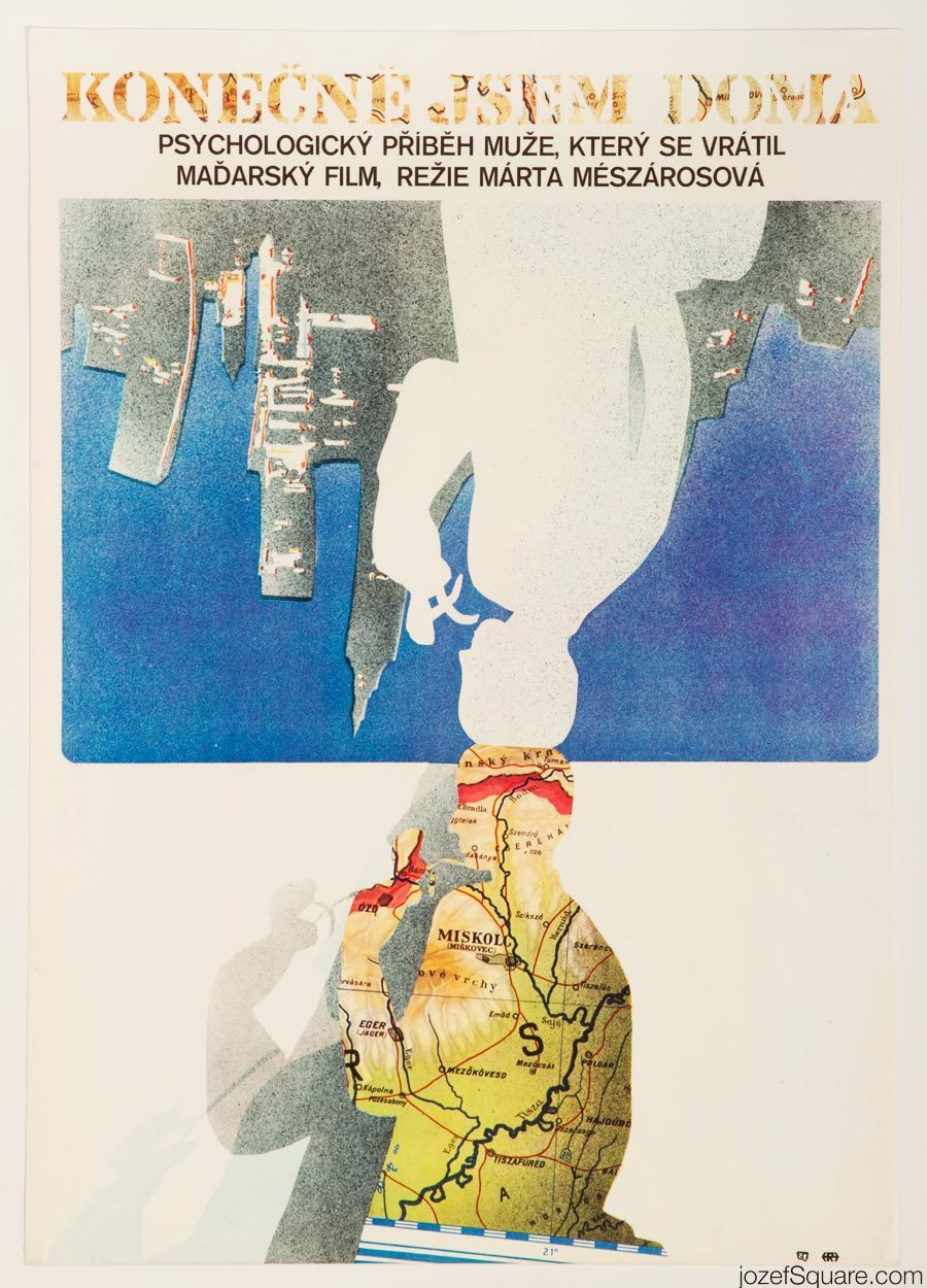 Abstract Movie Poster Art, Just Like Home, Hungarian Cinema
