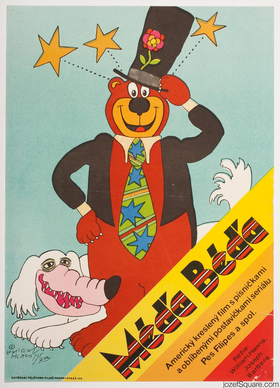 Hey There, It's Yogi Bear Movie Poster, Vratislav Hlavaty