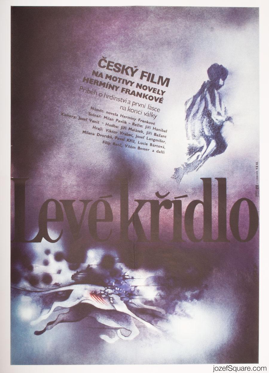 80s Cinema Poster, The Left Winger, Zdenek Vlach