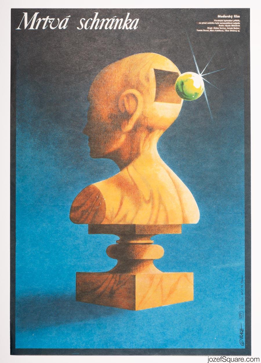 Zdenek Vlach Movie Poster, The Silent File, 70s Cinema Art
