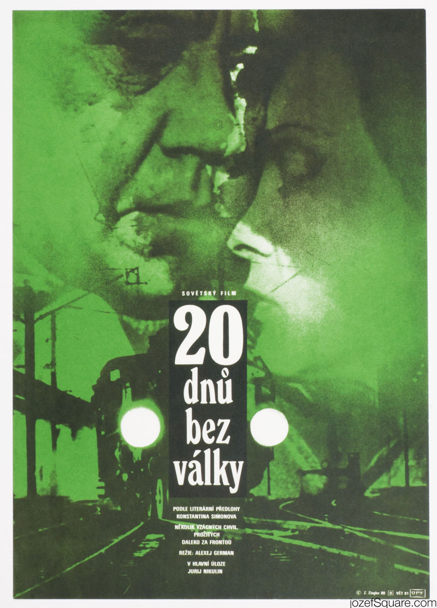 Zdenek Ziegler Movie Poster, Twenty Days Without War