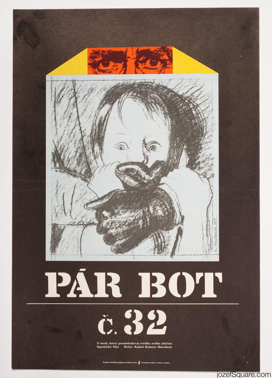 Movie Poster, The Student Connection, 70s Artwork, Karel Machalek