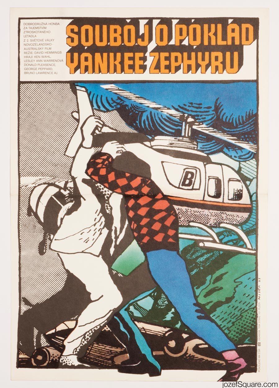 Treasure of the Yankee Zephyr Movie Poster, Karel Misek