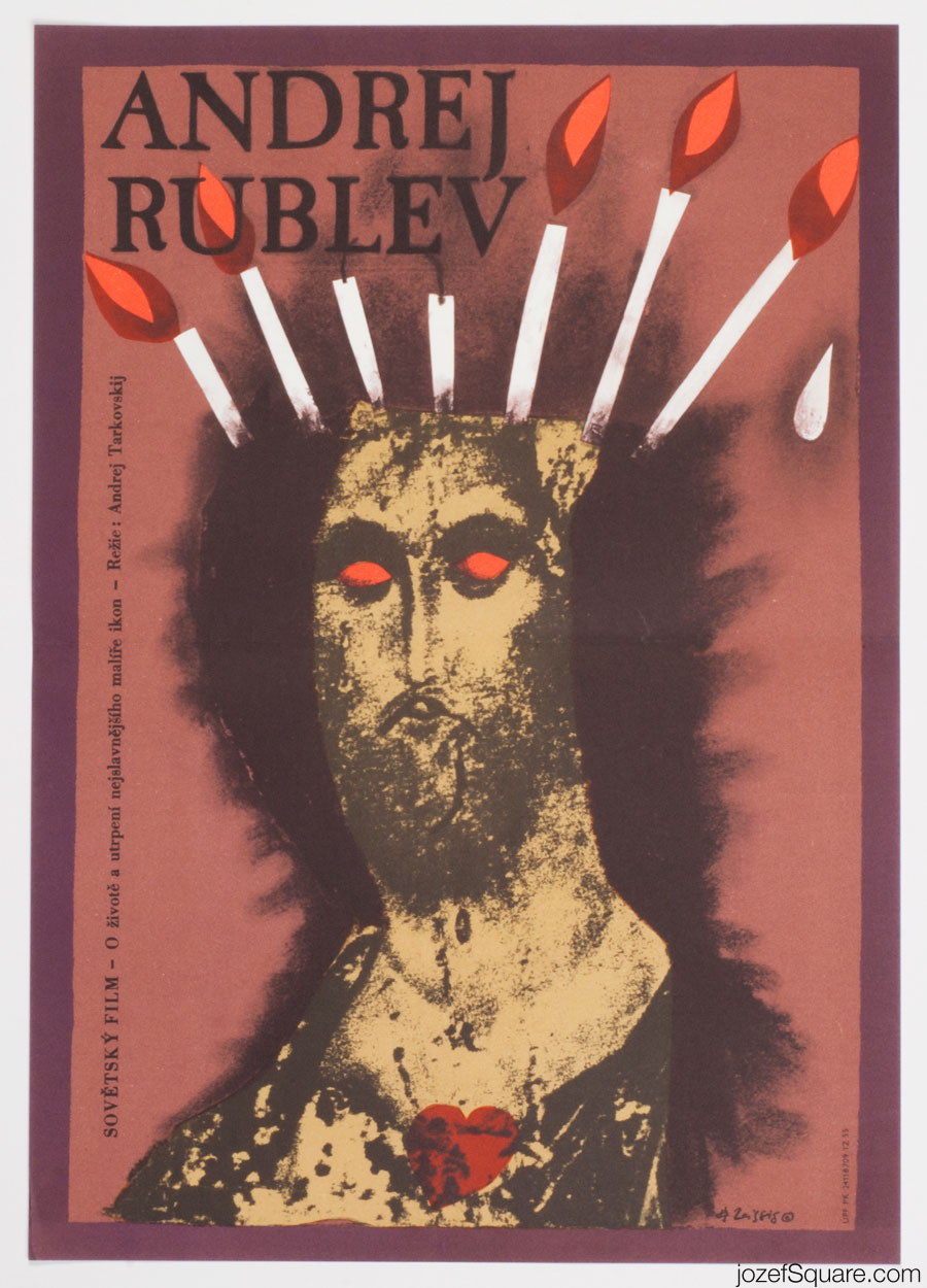 Andrei Rublev Movie Poster, Karel Teissig, 80s Artwork