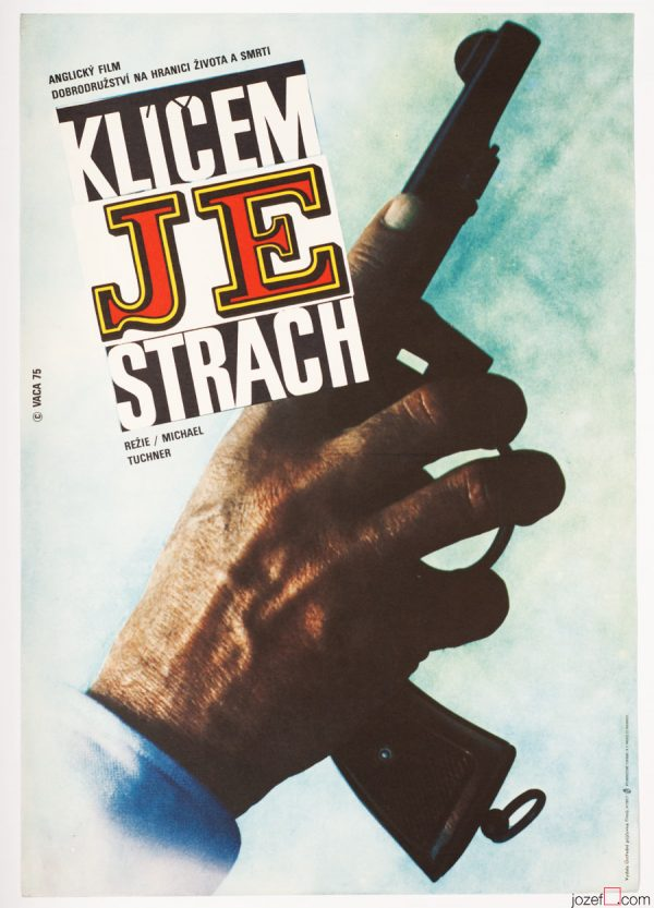 Fear Is the Key Movie Poster, 70s British Cinema, Karel Vaca