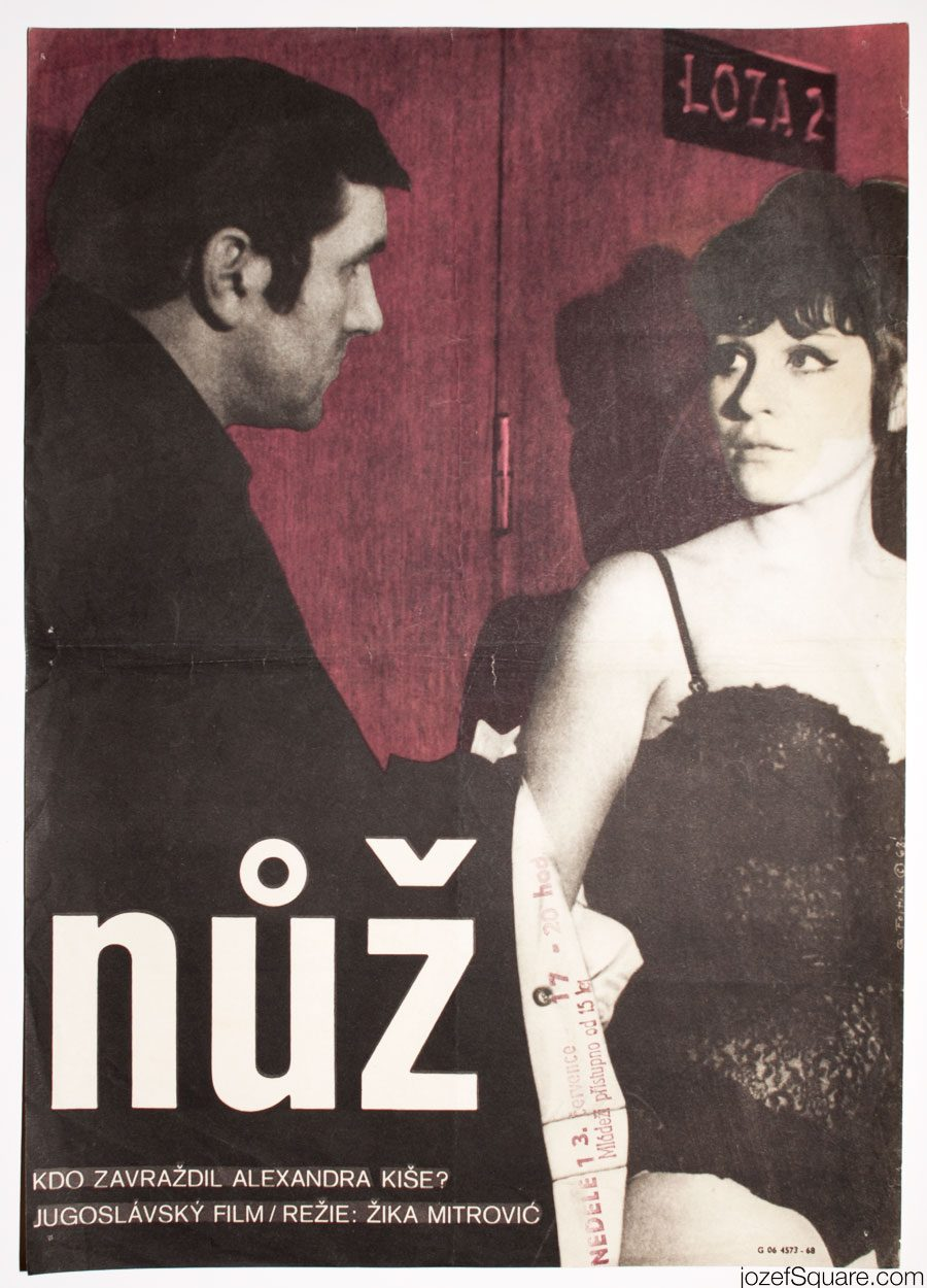 60s Movie Poster, The Knife, Yugoslavian Cinema