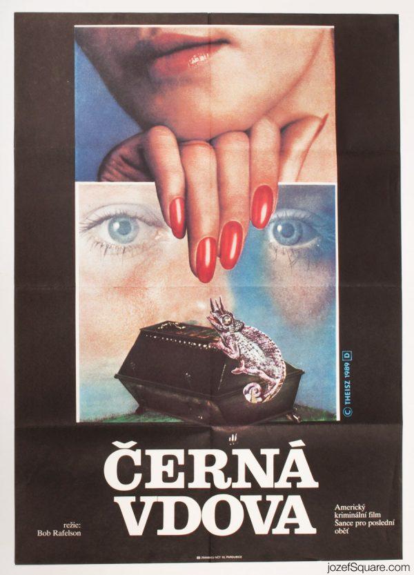 Black Widow Movie Poster, 80s Collage Cinema Art