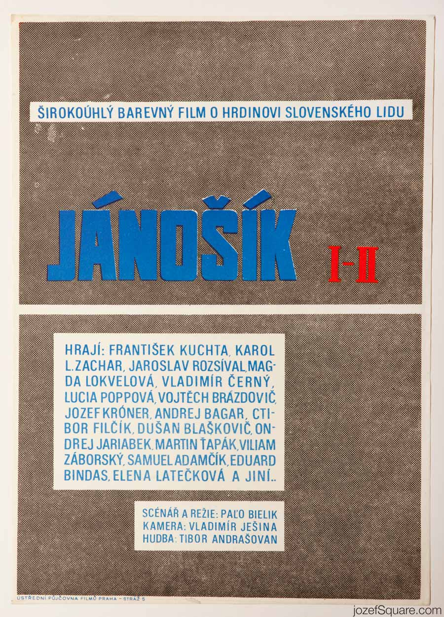 Janosik Movie Poster, Minimalist Poster Design