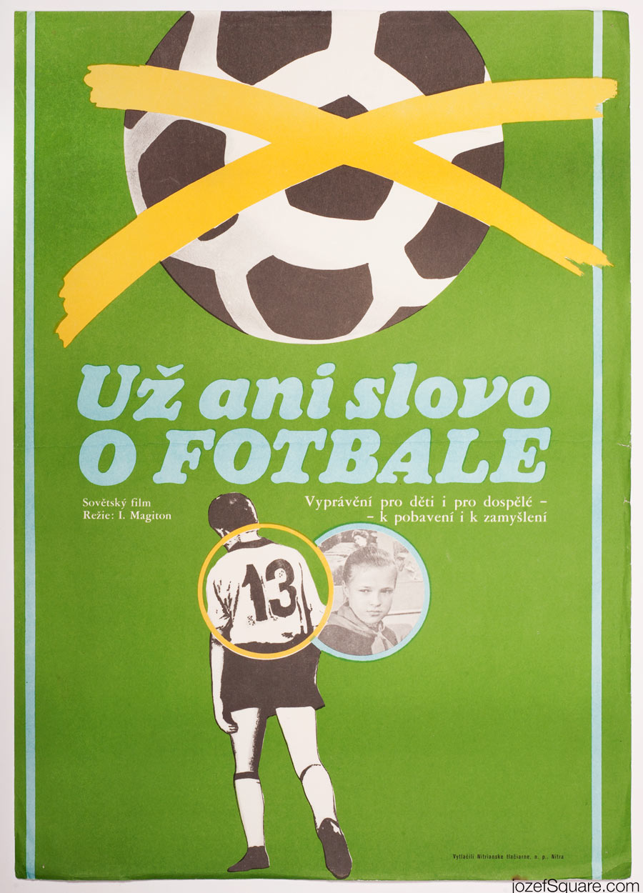 Kids Movie Poster, Enough About Football, 70s Cinema Art