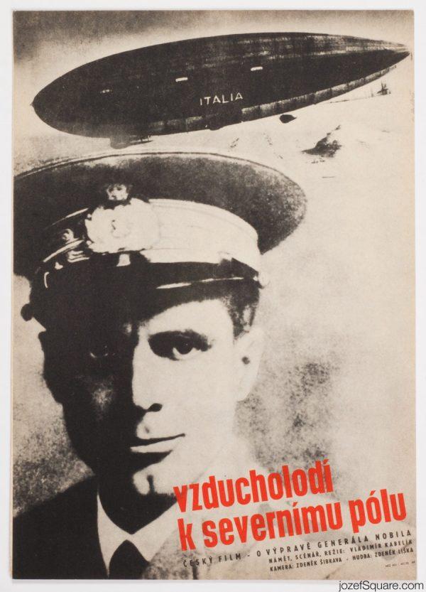 Umberto Nobile Movie Poster, 60s Cinema Art