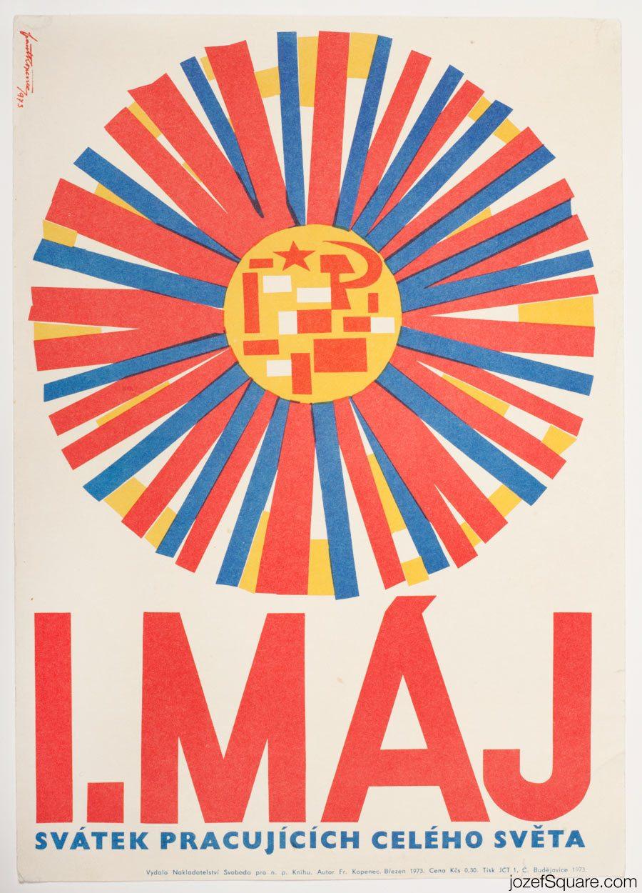 Propaganda Poster, First of May, 70s Artwork
