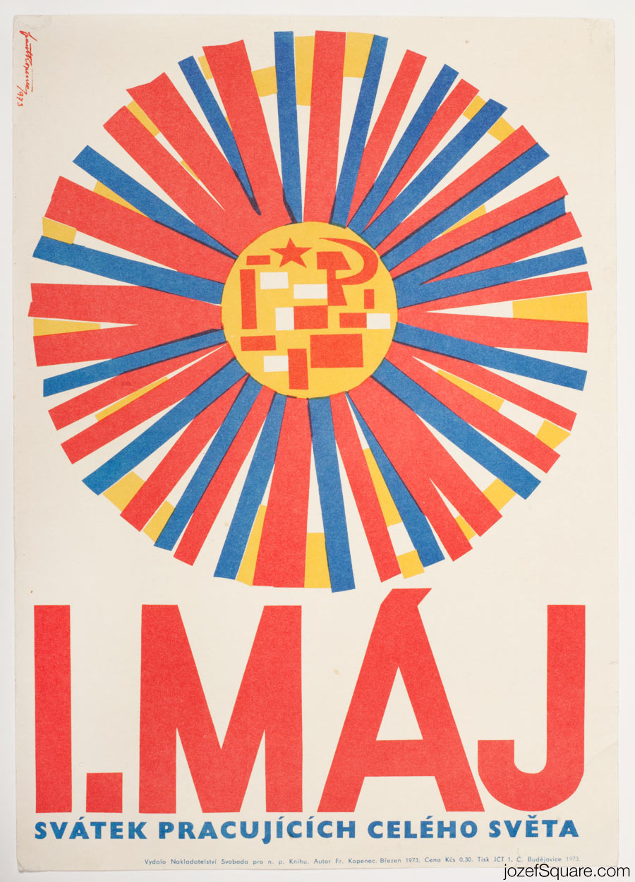 Propaganda Poster, First of May, 70s Artwork