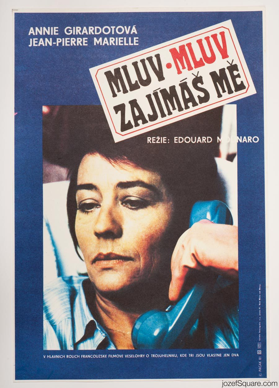 Movie Poster, Just Talk, I am Listening, 80s French Cinema