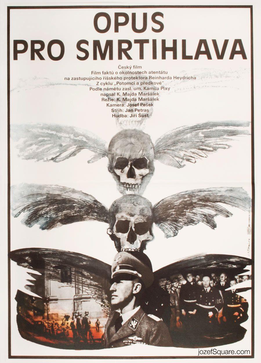 80s Movie Poster, An Opus For a Deaths-Head Moth, Jan Tomanek