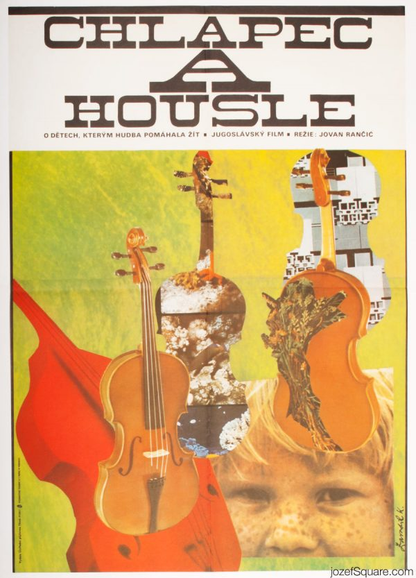 Movie Poster, The Boy And the Violin, 70s Cinema Art