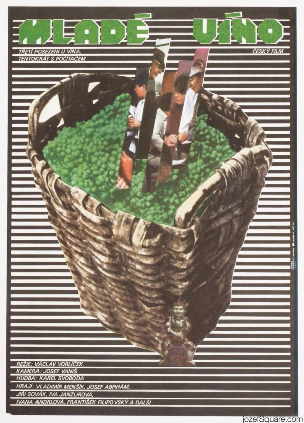 Movie Poster, New Wine, MIlan Grygar 80s Artwork