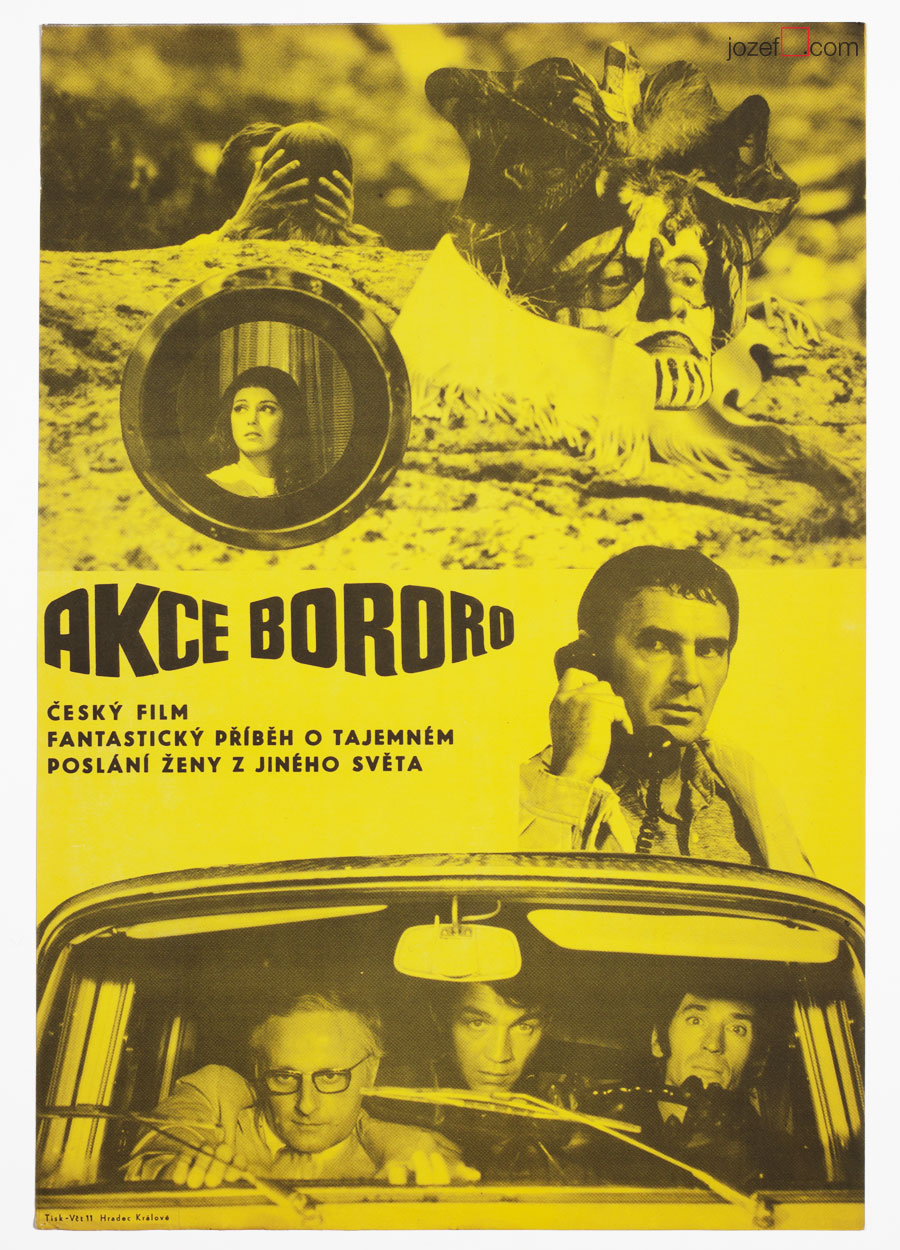 Movie Poster, Operation Bororo, 70s Cinema Art