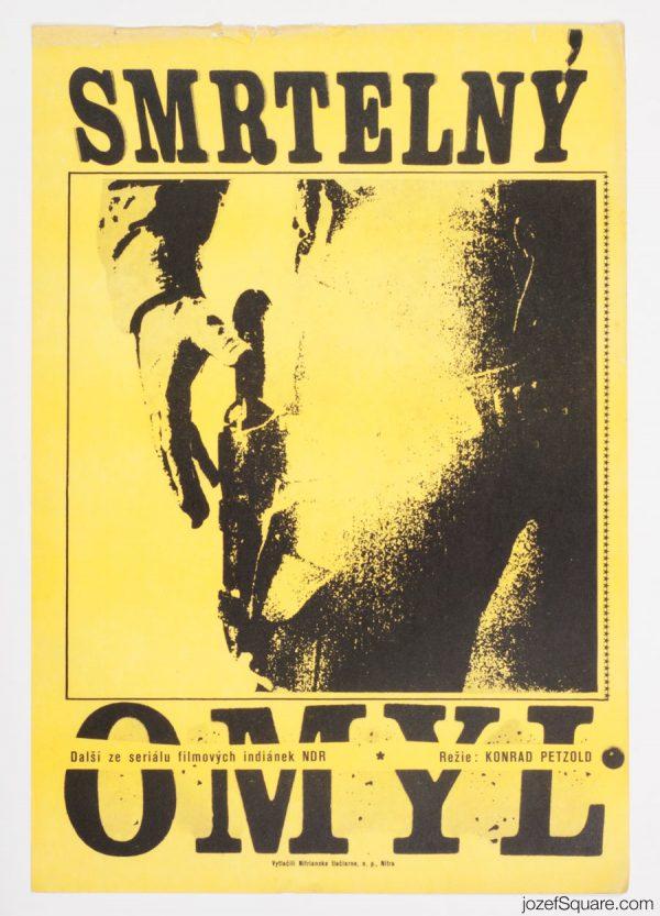Western Movie Poster, Fatal Error, 70s Cinema Art