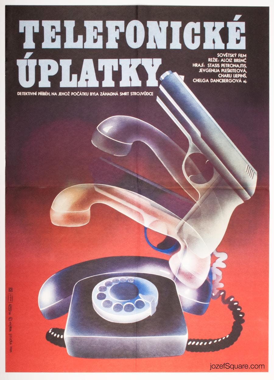 Movie Poster, Telephone Bribes, 70s Cinema Art