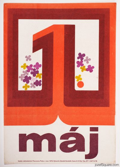 First of May Propaganda Poster, 70s Artwork