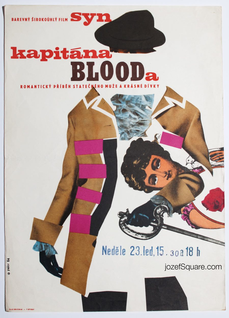 Movie Poster, The Son of Captain Blood, 60s Collage Art