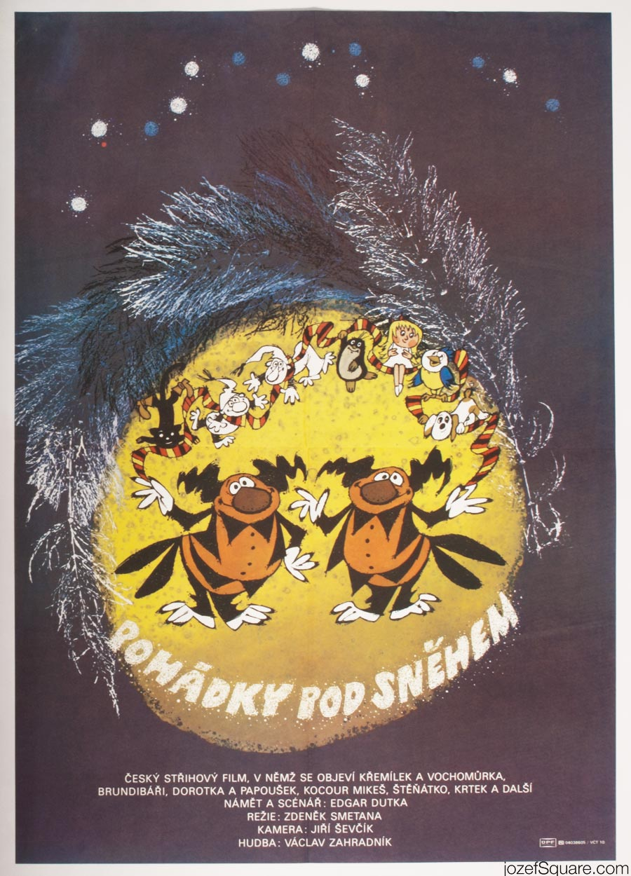 Kids Poster, Fairy Tales Underneath the Snow, 80s Cinema Art