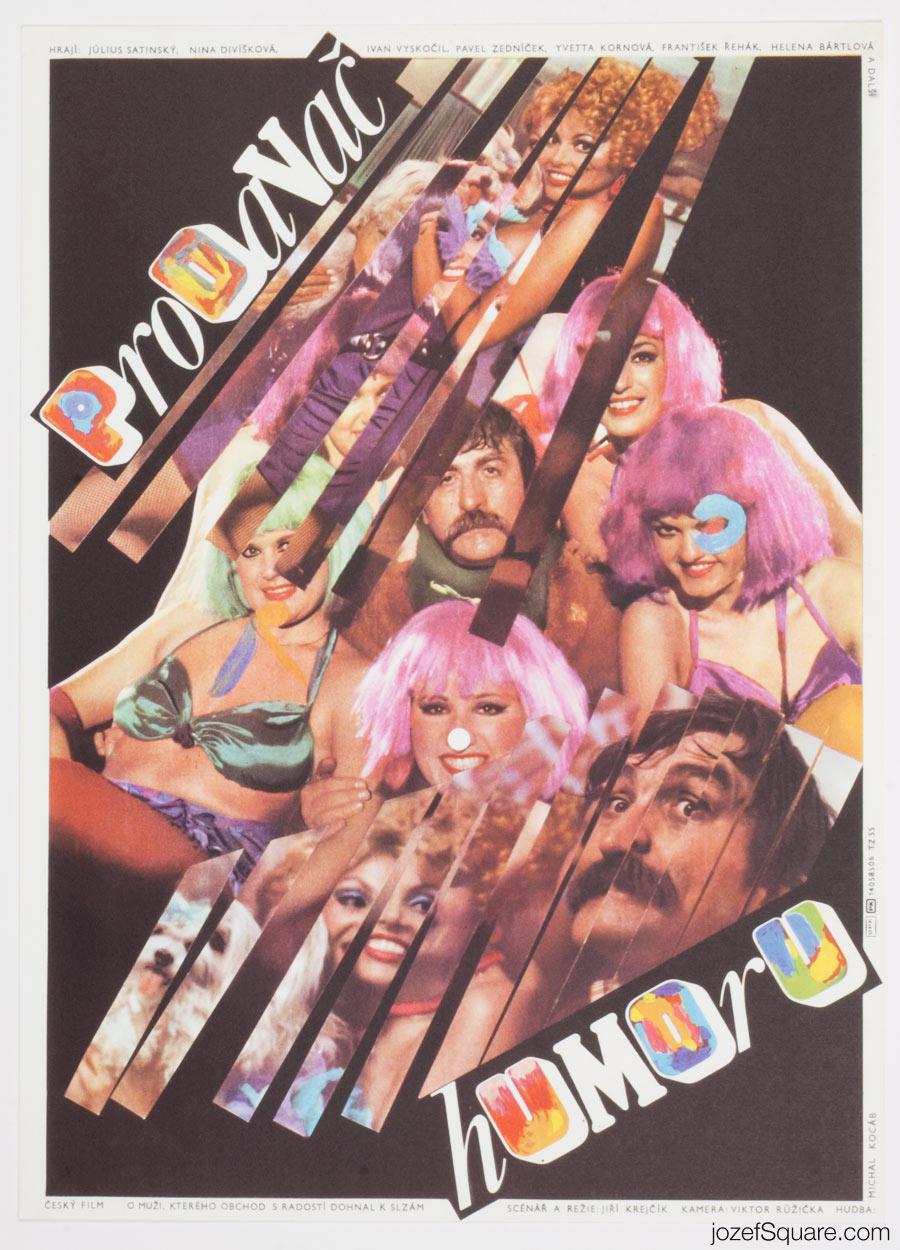 Zdenek Ziegler, The Humour Seller, 80s Cinema Poster