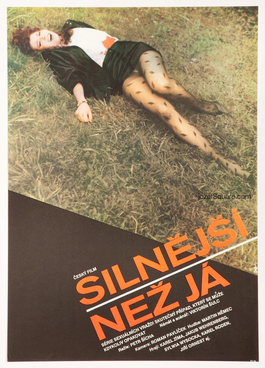 Movie Poster, Stronger Than Me, 90s Cinema Art