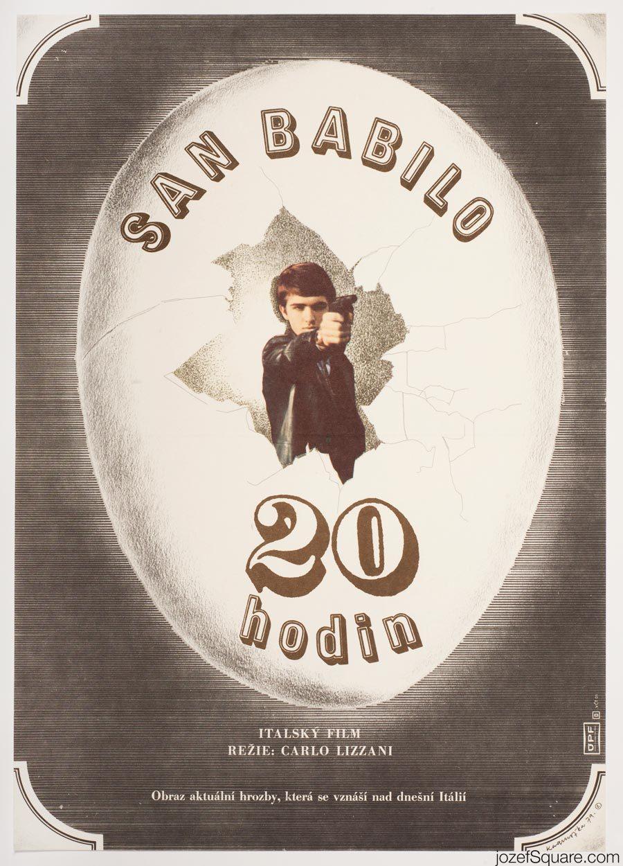 San Babila Movie Poster, 70s Cinema Art