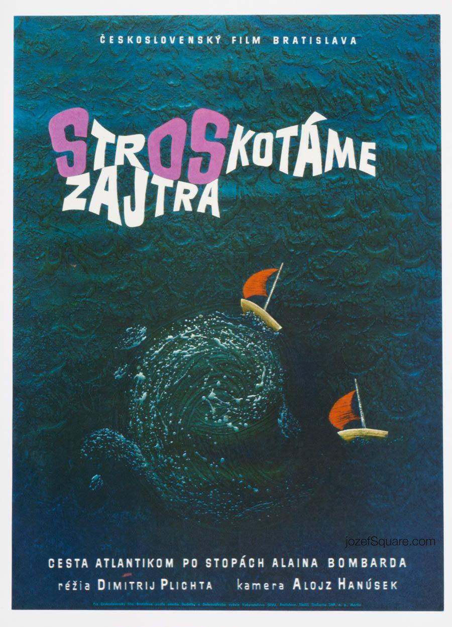 Movie Poster, Wrecked Tomorrow, 60s Cinema Art