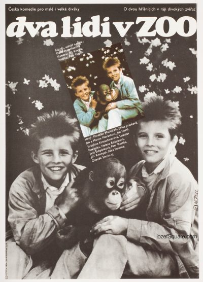 Kids Movie Poster, Twins at the Zoo, Jan Weber